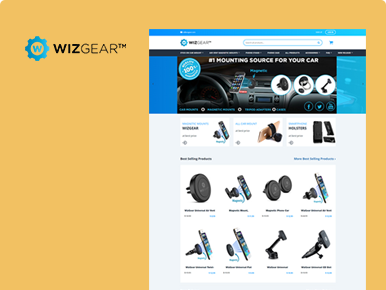 wizgear- Product Manufacturer Ecommerce Website