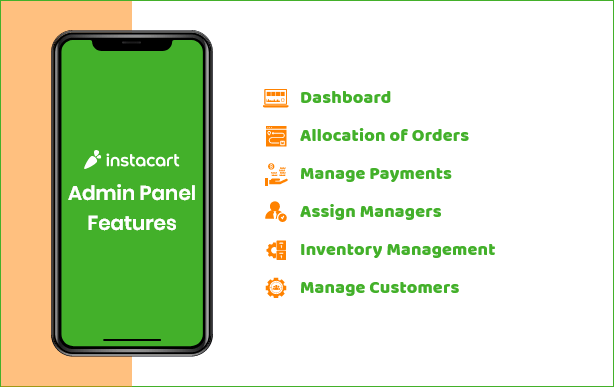 Instacart Features for Admin Panel